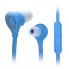 Wallytech In-Ear Earphone w/ Mic / Volume Control for Cellphone - Blue (3.5mm Plug / 120cm-Cable)