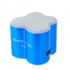 Butterfly Shaped Media Player Speaker w/ Micro SD / USB - Blue