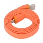 USB Male to Micro USB Male Flat Data Cable for Kindle Fire HD + More - Orange (90cm)
