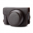 Protective PU Leather Camera Case Bag for Panasonic GX1 - Coffee