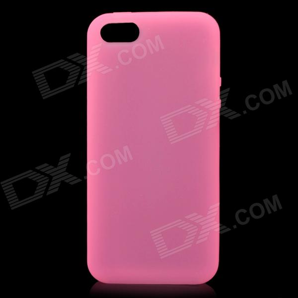 Protective Soft Silicone Back Case for Iphone 5 - Pink stylish bubble pattern protective silicone abs back case front frame case for iphone 4 4s