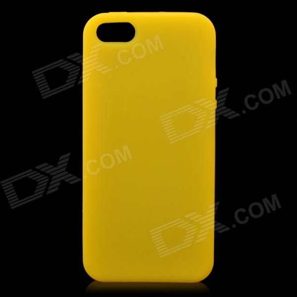 Protective Soft Silicone Back Case for iPhone 5 - Yellow