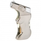 Cool Windproof Butane Jet Torch Lighter - Silver