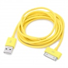 USB Data Transmission & Charging Cable for iPhone / iPad - Yellow (200cm)