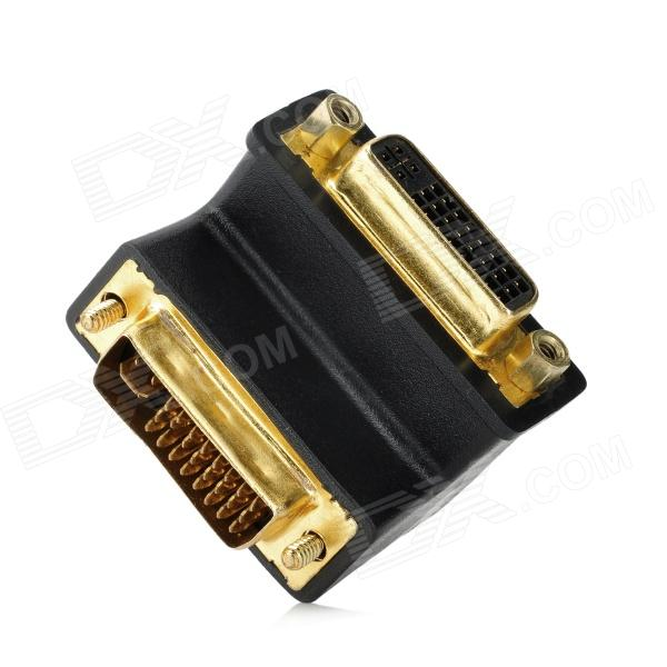 DVI (24 + 4) Male to Female Right Angle Adapter - Black