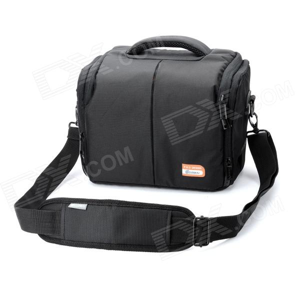 EIRMAI EMB-SS03 Protective Nylon Fabric One-Shoulder Bag for Canon 600D / 60D / 7D - Black nylon one shoulder bag black