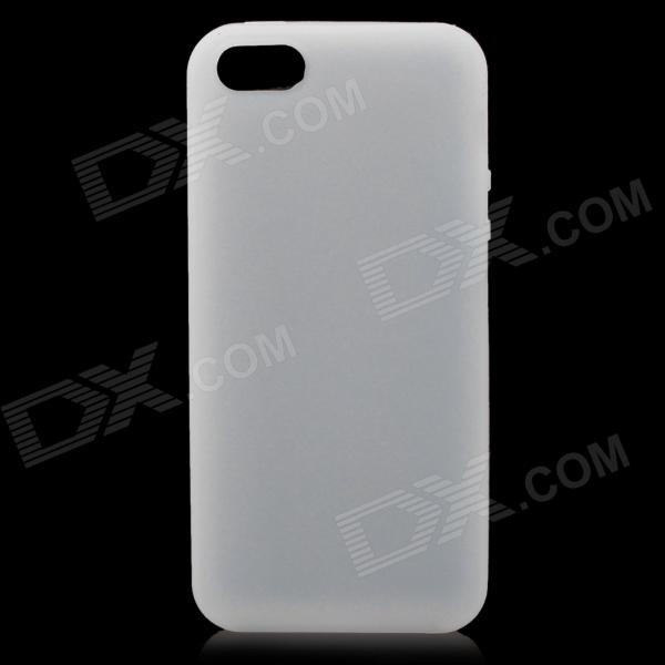 Protective Soft Silicone Back Case for Iphone 5 - White protective silicone soft back case cover for iphone 5 white