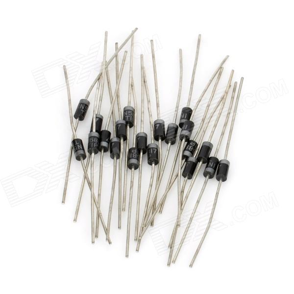 1N5817 0~20V 1A Single Way Rectifier Diodes Set - Black (20 PCS)