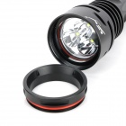 TrustFire TR-DF003 3 x Cree XM-L T6 1600lm 5-Mode White Light Diving Flashlight - Black (2 x 26650)