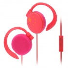 Chinese National Flag style Ear Hook Stereo Earphone for Iphone - Red