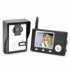 "2.4GHz Wireless 3.5"" TFT Monitor 300KP Video Door Phone w/ 6-IR LED Night Vision - Black + Silver"