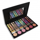 Cosmetic Makeup 78-Color Eye Shadow Palette w/ Smudger + Mirror