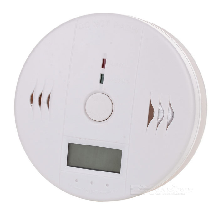 "1.2"" Screen Display CO Carbon Monoxide Alarm Warning Sensor Detector - White (3 x AA)"
