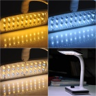 LED-663 Rechargeable White / Warm White 40-LED Dimmable Desk Lamp Table Light - White