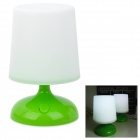 Solar Powered Stylish 1W White 1-LED Decorative Desk Lamp Table Light - White + Green