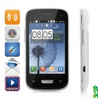 "Mini 9300 Android 2.3 GSM Bar Phone w/ 3.5"" Capacitive Screen, Quad-Band and Wi-Fi - White + Black"