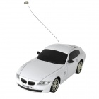 1:24 Aluminum Alloy 2-CH 49MHz Remote Controlled R/C Racing Car - White (1 x 700mAh battery)
