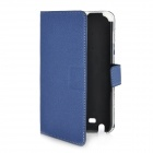 Protective PU Leather Case w/ Card Slots for Samsung Galaxy Note i9220 - Blue