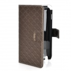 Protective PU Leather Case for Samsung Galaxy Note i9220 - Brown