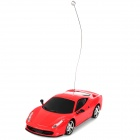 01.24 Aluminum Alloy 2-CH 49MHz Remote Controlled R / C Racing Car - Rot (1 x 700mAh Akku)