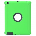 Robot Pattern Protective Silicone + Plastic Cover Case for The New iPad - Green