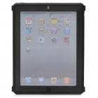 Protective Plastic Silicone Full Protection Case for The New iPad - Black