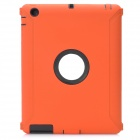 Protective Plastic Silicone Full Protection Case for The New iPad - Orange + Black