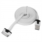 USB Charging / Data Flat Cable for iPhone Series - White (2m)