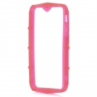 Protective Soft TPU Bumper Frame for iPhone 5 - Deep Pink