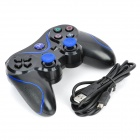 USB Dual-Shock Wired Controller for Sony PlayStation 3 PS3 / PS3 Slim - Black + Blue