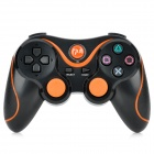 USB Dual-Shock Wireless Controller für die Sony PlayStation 3 PS3 / PS3 Slim - Schwarz + Orange