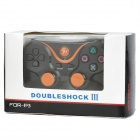 USB Dual-Shock Wired Controller for Sony PlayStation 3 PS3 / PS3 Slim - Black + Orange