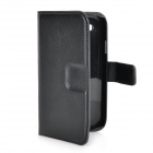 Protective Flip-Open PU Leather Case w/ Card Slots for Samsung Galaxy S3 i9300 - Black