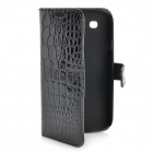 Alligator Pattern Flip-Open PU Leather Case for Samsung Galaxy S3 i9300 - Black