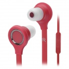 Wallytech Cool Noodle Shape In-Ear Earphone w/ 2 Pairs Earbuds - Red (3.5mm-Plug / 120cm-Cable)