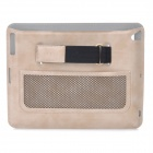 Rock Car Mounted Protective PU Leather Case for The New Ipad / Ipad 2 - Beige