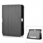 Protective Flip Open PU Leather Case for Samsung N8000 Tablet - Black
