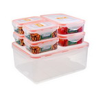 Microwaveable Locking Plastic Food Containers Set of 7 (1 x 193oz / 2 x 27oz / 4 x 11oz)