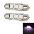 Festoon 38mm 0.54W 35lm 3x5050 SMD LED Purple Light Car Reading / Tail / Door Lamp (2 PCS)