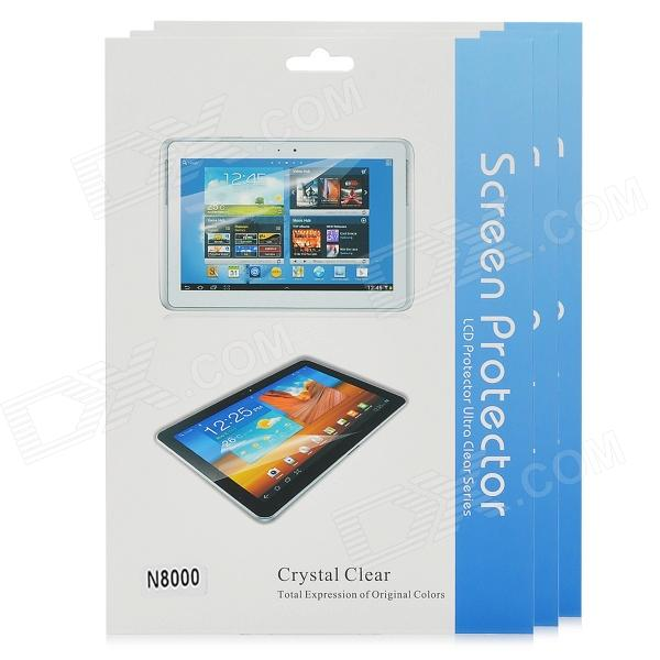 Glossy Screen Protectors Guards for Samsung Galaxy Note N8000 - Transparent (3 PCS)