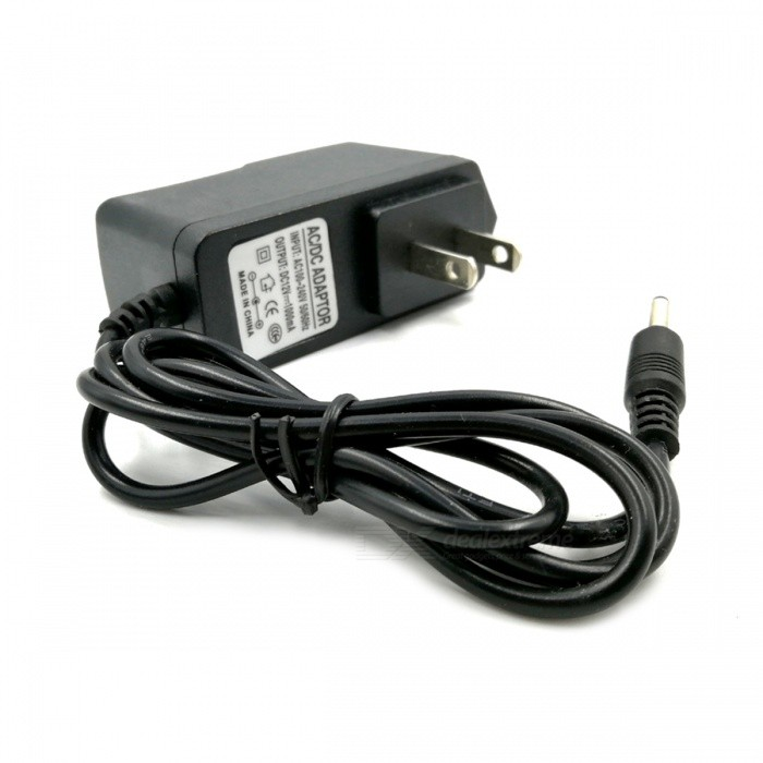 3.5 x 1.35mm Plug Universal Adapter Charger - Black (2-Flat-Pin Plug / AC 100~240V / 100cm-Cable)