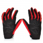 Scoyco Stylish Full-Finger Motorcycle Gloves - Black + Red + Grey (Pair / XL Size)