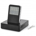 "2.4"" LCD Display Speaker w/ Alarm Clock / FM / USB - Black (2 x AAA)"
