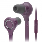 Wallytech Cool Noodle Shape In-Ear Earphone w/ 2 Pairs Earbuds - Purple (3.5mm-Plug / 120cm-Cable)