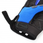 Scoyco Stylish Full-Finger Motorcycle Gloves - Black + Blue + Grey (Pair / XL Size)