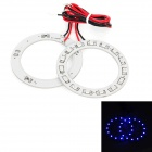 2.25W 120lm 15x1210 SMD LED Blue Light Car Angle Eyes Decoration Lamp (2 PCS)