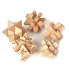5-in1-Lock Puzzle Wooden Building Block Intelligenz Spielzeug