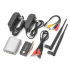 2W 2.5GHz Wireless Kit Transmissor Receptor - Prata + Preto