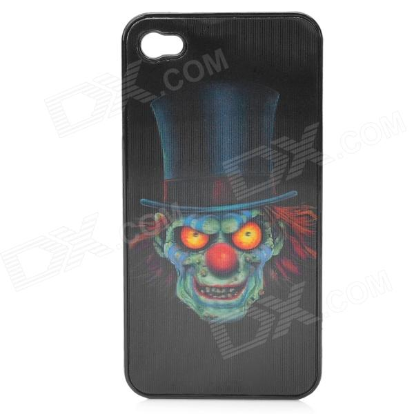 3D Skull Face Pattern Protective Case for Iphone 4 / 4S - Black