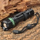 New-D109 Cree XP-E R2 270lm 3-Mode White Light Zooming Flashlight - Black (1 x 18650 / 3 x AAA)